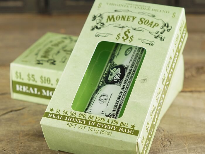 Soap With Real Money