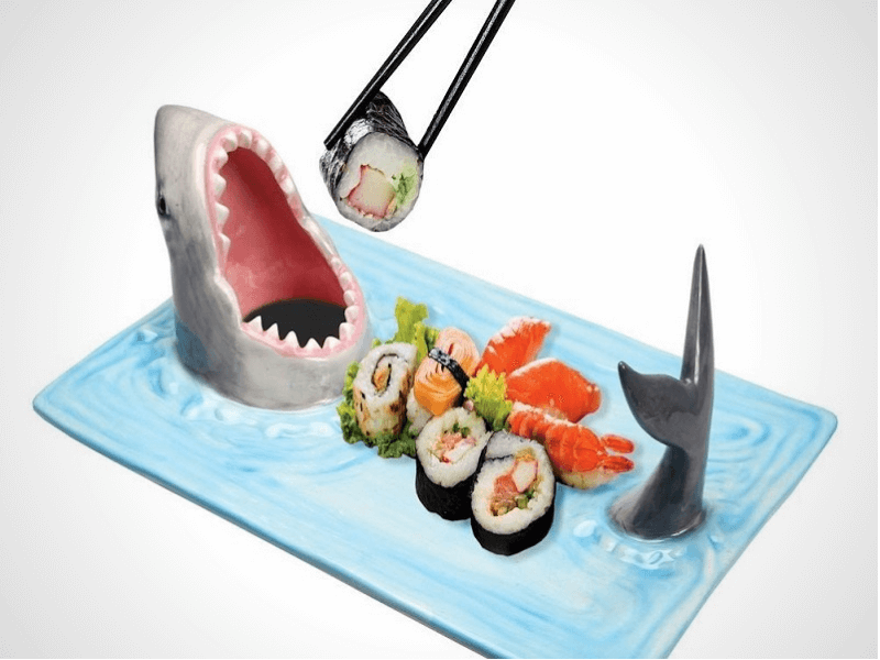 Shark Attack  Sushi Serving Platter