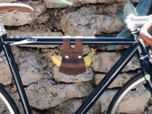 Leather Banana Holder for Bike