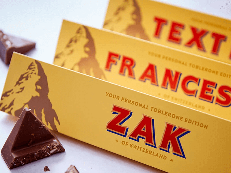 Personalized Toblerone Bar