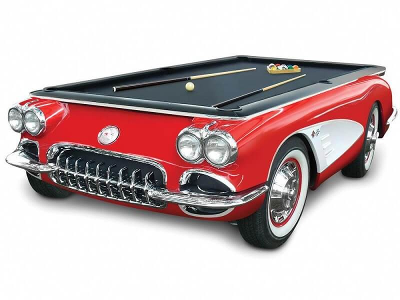 The 1959 Corvette pool table
