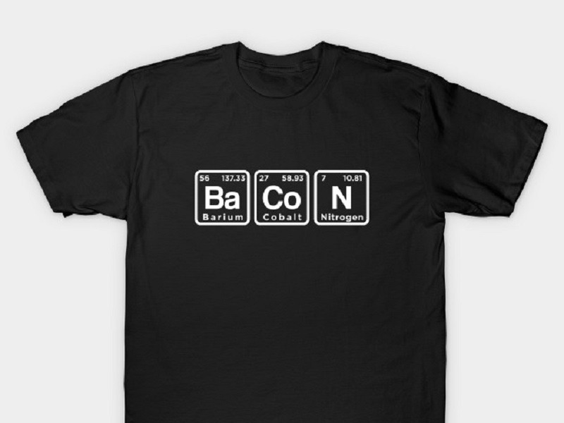Periodic Elements Bacon T-Shirt