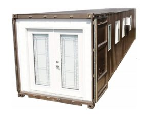 Pre-fabricated home in a container