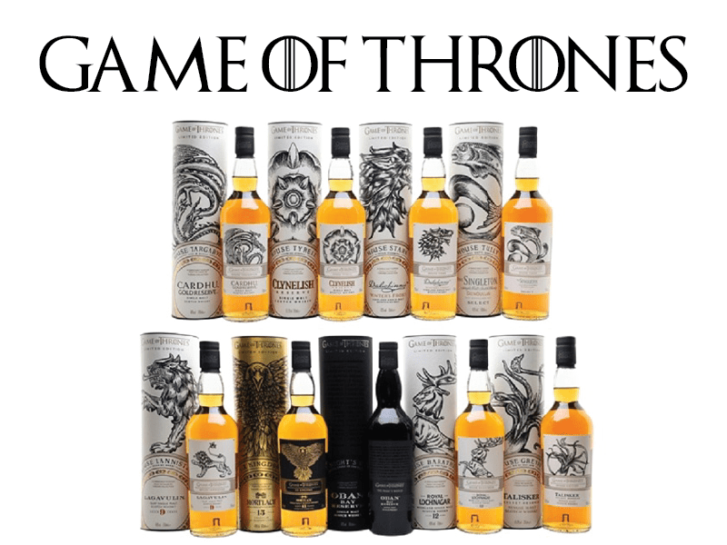 Collection of nine GOT Scotch whiskeys